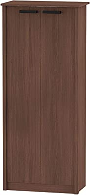 Ditalia Moveis DL-904 Wood Office Cabinet, Brown - H 160 cm x W 75 cm x D 40 cm
