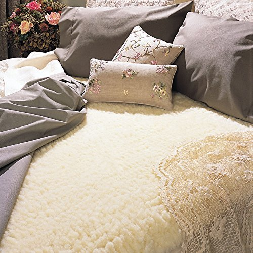SnugFleece ORIGINAL 1.75 In. Wool Mattress Topper Pad Cover CAL KING SIZE 72 x 84 by Snugfleece