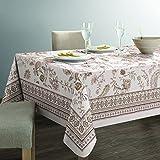Bottega Textil TISCHDECKE Fleckschutz mit Digitaldruck Stoff Jacquard, verschiedene Größen und Farben erhältlich. 140x240 cm Papua Beige
