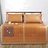 Klimatisierte Matte Bambus-Teppich-kühle Matratze Faltbare 1.5m 1.8m 3-teiliges Studenten-Schlafsaal-glatte Matte Sommer-Schlafen-Matte (Farbe : Style 1, größe : 1.8m (6 ft) bed)