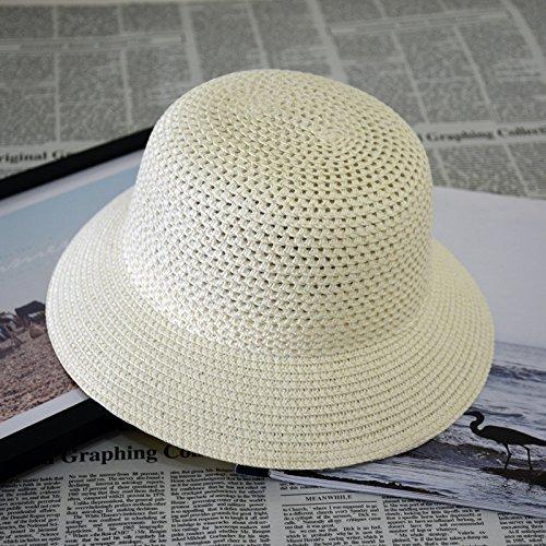 9dc60ee94 Generic Yellow Bucket : Children Straw Hat 2016 Fashion Panama Beach Sun  Jazz Hat Solid Hollow Summer Cap Girl Caps Fedoras Baby New Straw Fishing  Hat