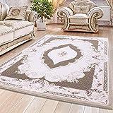 Carpet 1001 Hochwertiger Moderner Designer Wohnzimmer Teppich Alpina 5210 Braun - 80x300 cm