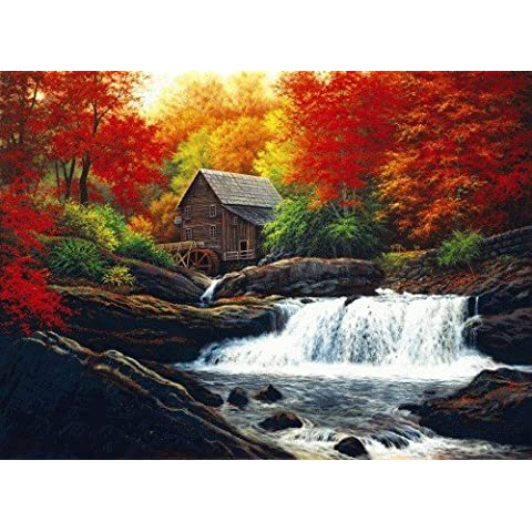 glade creek grist mill by serendipity puzzle company (Grist Mill)