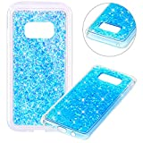 Coque pour Samsung Galaxy S8 Plus,Paillette Coque pour Galaxy S8 Plus,Surakey Bling Brillant Cristal Glitter Diamant strass Coque Silicone Étui Ultra Mince Housse pour Samsung Galaxy S8 Plus Coque de Protection en TPU avec Absorption de Choc Bumper et Anti-Scratch Etui Premium Semi Hybrid Crystal Clear Flex Soft Skin Souple Coque Etui en Silicone Téléphone Couverture TPU Cover Coque Housse Étui pour Samsung Galaxy S8 Plus - Bleu