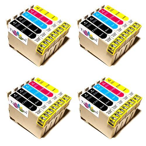 Preisvergleich Produktbild 20x Premium Tintenpatronen kompatibel für Epson Stylus SX 205, SX 210, SX 215, SX 218, SX 400. - 8x BK, 4x Cy, 4x Ma, 4x Ye - Lstg: 18ml