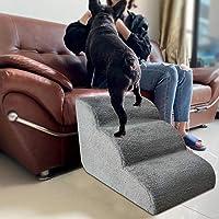 WXGY Hundetreppe Leiter Haustiertreppe Schritt Schlafsofa Leiter Haustiertreppe mit Treppenlandung für kleine Hunde…