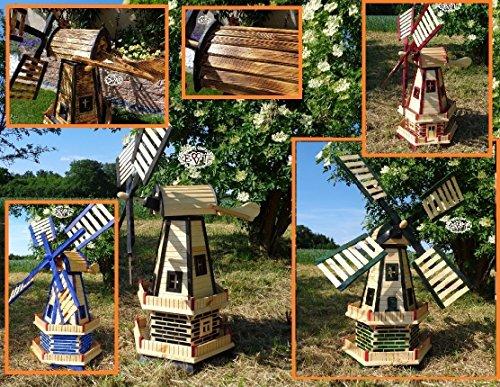 Gartenwindmühle 130 cm, zweistöckig