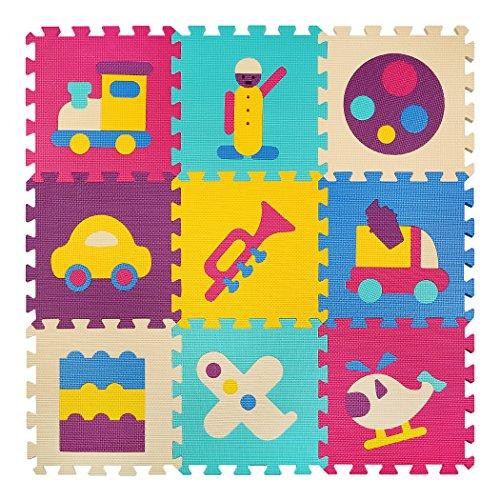 Los niños embroman el juego del rompecabezas colorido Catroon no tóxico de la espuma embaldosa por 35 '35' x 0. 4 'meiqicool 024