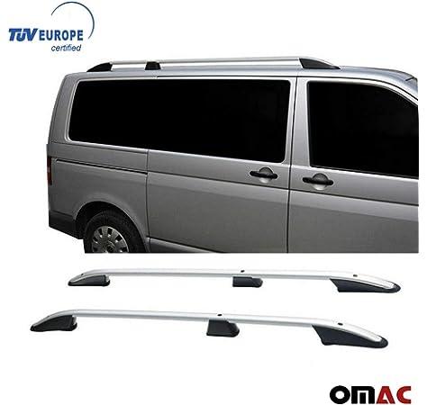 TÜV Abe Barres de toit Porte bagage pour VW t6 Caravelle Multivan Noir Aluminium 3 pcs