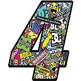 Startnummer Nummern Zahl Auto Moto Vinyl Aufkleber Bomb Sticker Motorrad Motocross Motorsport Racing Nummer Tuning (4), N 204