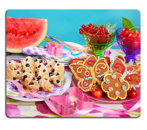 MSD Natural Rubber Gaming Mousepad IMAGE ID: 29805002 butterfly shaped gingerbread and puff pastry cookies with blueberry for children s birthday party