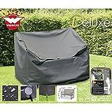 Deluxe Schutzhülle für Gartenbänke, 120x78cm, Polyester 420D - Garten Bank Gartenmöbel Schutz Hülle Abdeckung Tragetasche Plane