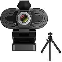 TROPRO Webcam für PC, Full HD 1080P Computer Kamera mit Abdeckung, USB Web cam mit Mikrofon, Cover, Erweiterbares Stativ…