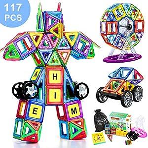 COOLJOY Magnetiche Blocchi Costruzione, 117 PCS Magnetici Blocchi Costruzioni Giocattolo, Giocattoli Educativi Imparare… 0782337455943 LEGO