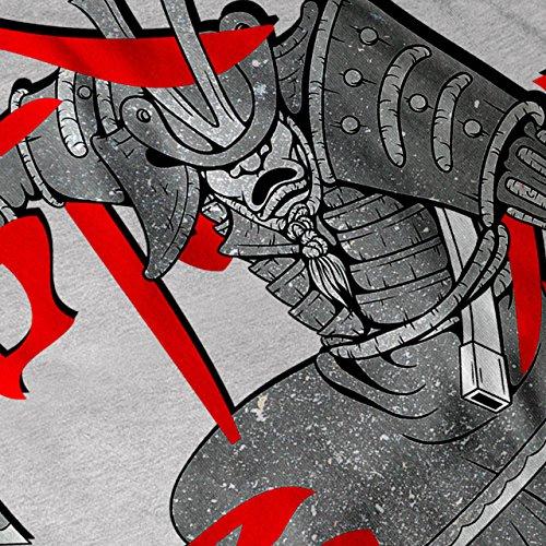 Samurai japanisch Fantasie Krieger Kampf Damen S-2XL Muskelshirt | Wellcoda Grau