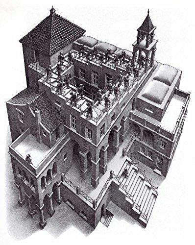 Escher 19 Poster Stampe cm. 50 x 70 papi arte moderna stampa da quadro dipinto falso d'autore vendita online
