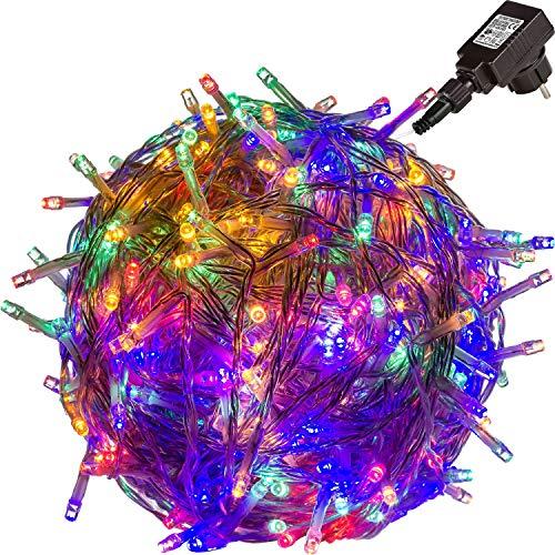 VOLTRONIC® 100 200 400 600 LED Lichterkette (Bureau Veritas GS geprüft), Dekra GS Adapter, IP44, Farbwahl