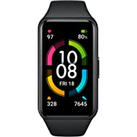 HONOR Band 6 Meteorite Black - 1.47'' AMOLED Touch Display, Smart Watch Like Design, 14 Days Battery, SpO2, 24/7 Heart…