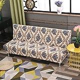 SSDLRSF Universalgröße Armless Sofa Bettdecke Klappsitz Hussen Stretch-Abdeckungen billig Couch Protector Elastische Bank Futon Cover (150-215cm), Farbe 33.150-185cm