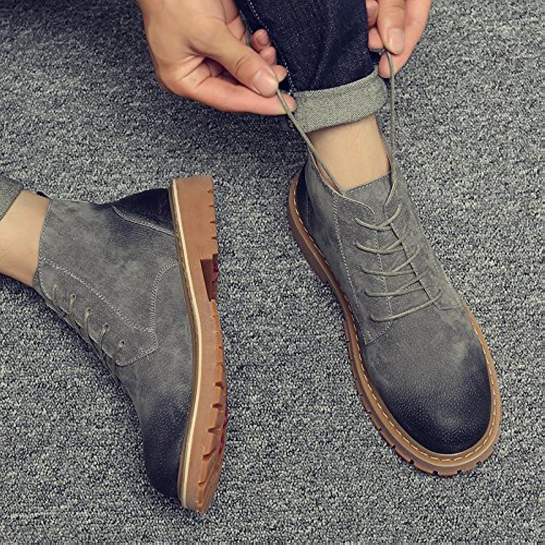 HL PYL   Retro Martin Stiefel und Boots für Martin Schuhe und Stiefel  41  Grau