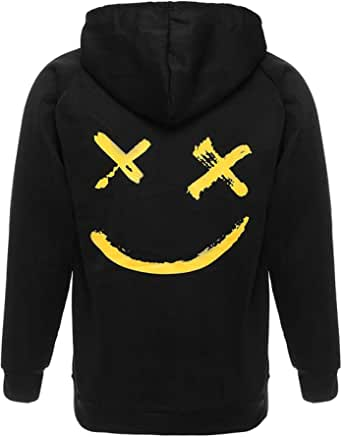 XIAOYAO Men's Sweatshirt Hoodies Top Blouse Tracksuits Long Sleeve Autumn Winter Casual