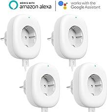 Wlan Steckdose mit USB Port, Maxcio Alexa Smart Steckdose, Funktioniert mit Amazon Alexa, Google Home und IFTTT, App Fernsteuerung [IOS und Android], Timing Funktion, Family Sharing, Kein Hub erforderlich, 10A-2200W - 4 Packs