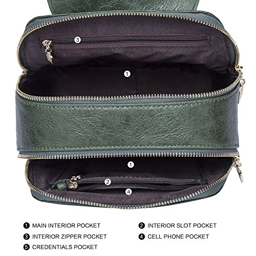 BOYATU borsa in pelle in pelle borsa a tracolla singola borsa da snowboard serie Crossbody Bag Fibbia Cat (Black) Verde turchese