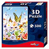 #9: Noris Puzzle 500 Pcs With 3D Effects Butterfly, Multi Color