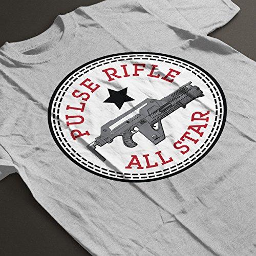 Pulse Rifle Alien All Star Converse Logo Women's T-Shirt Heather Grey