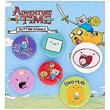 Set de seis chapas de Finn de Adventure Time