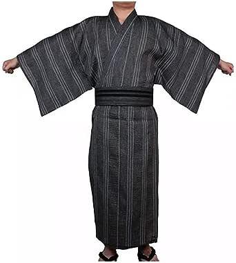 Double Villages Men's Japanese Yukata Kimono Home Robe Pajamas Yukuata Dressing Gown