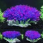 QHGstore Aquarium Decoration Artificial Water Plant Grass Plastic Purple Plant Fish Tank Landscape Ornament Decor 10