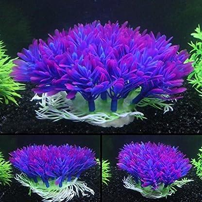 QHGstore Aquarium Decoration Artificial Water Plant Grass Plastic Purple Plant Fish Tank Landscape Ornament Decor 2