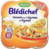 Blédina Blédichef Assiette Navarin aux légumes et Agneau dès 18 mois 2x260g - lot de 4