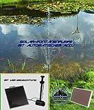 Solar-Springbrunnenpumpe mit Accu und Beleuchtung !!!