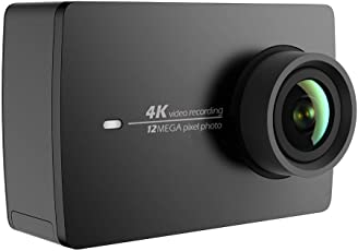 YI 4K Action Camera 4K/30fps Videoregistrazione da 12 MP ActionCam con Touch Screen LCD 155 ° grandangolare 5.56 cm, Wi-Fi e App per Smartphone, comando vocale. Nero
