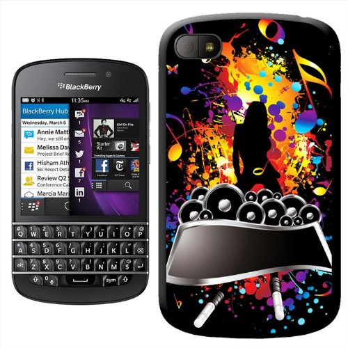 Rock Superstar donna musica speaker cover posteriore rigida a incastro per Blackberry Q10