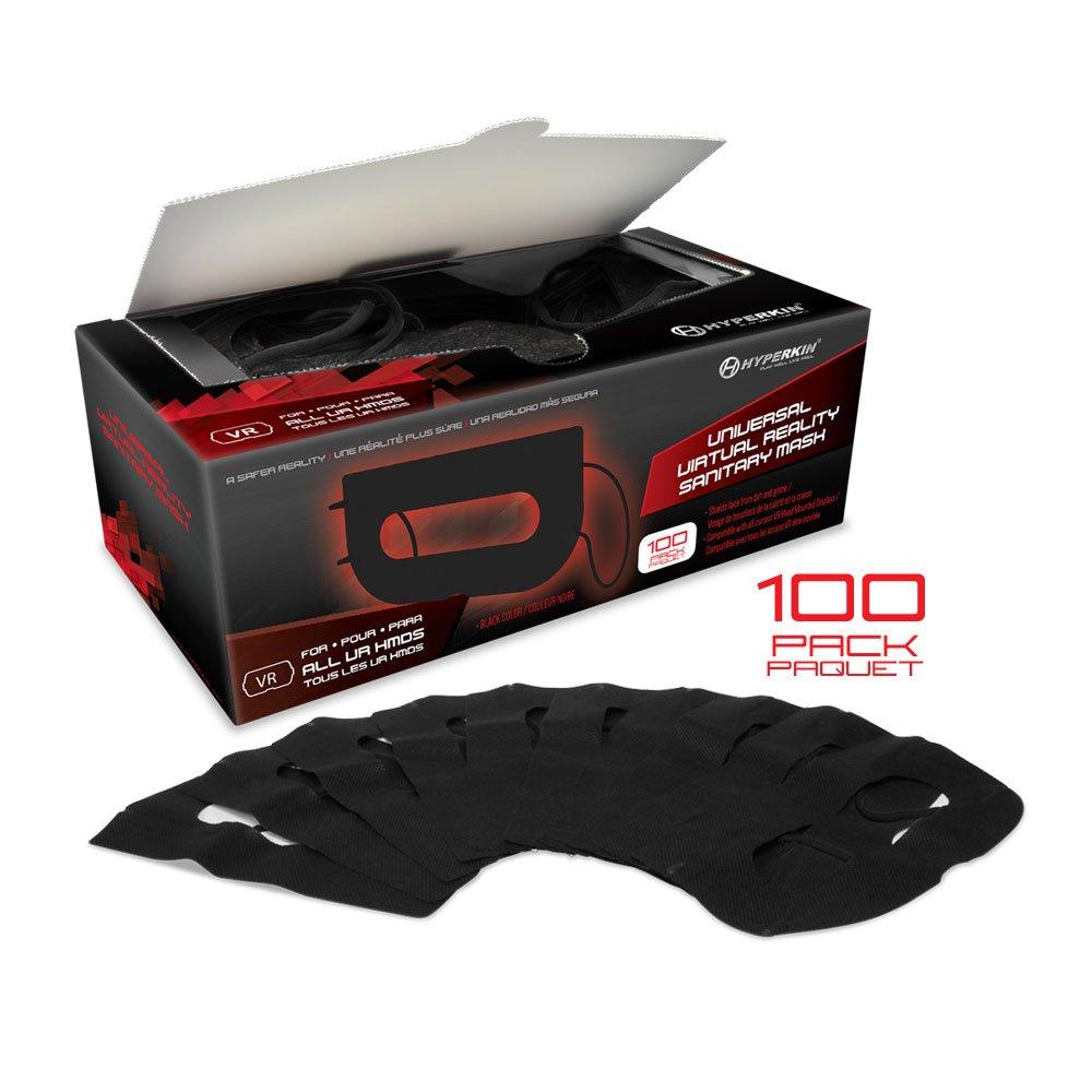 Pack de 100 Masques Jetables pour HTC Vive – Casque VR – noir