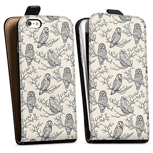 Apple iPhone X Silikon Hülle Case Schutzhülle Eulen Wald Natur Downflip Tasche schwarz