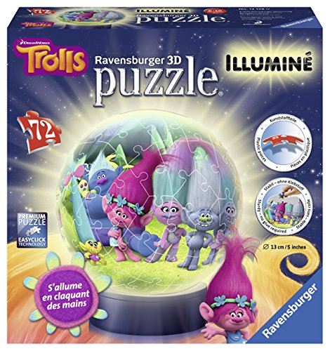 Puzzle 3d Trolls luminoso–72piezas