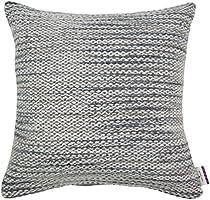 Tom tailor 564051 strickkissenhülle t-softly en tricot 50 x 50 cm, tissu mélangé gris/beige