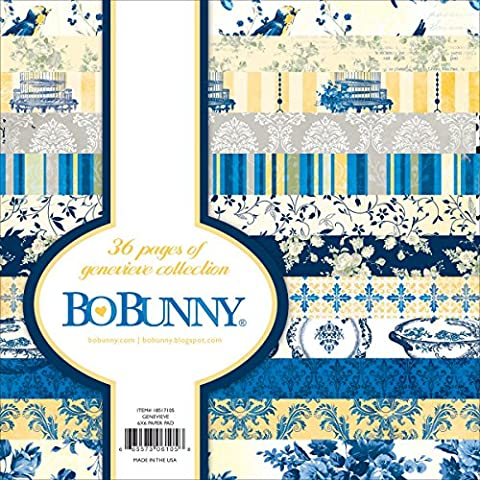 BoBunny BoBunny Bloc de papier 15x 15cm 36/pkg-genevieve, d'autres, multicolore