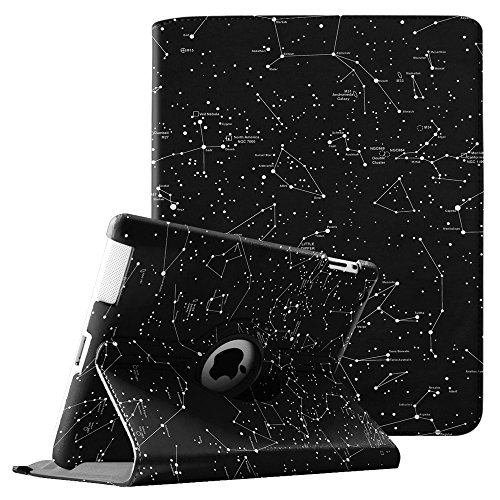Fintie iPad 2/iPad 3/iPad 4 Hülle - 360 Grad rotierende Schutzhülle mit Standfunktion Smart Case mit Auto Schlaf/Wach Funktion für Apple iPad 2,iPad 3 & iPad 4th Generation, Sternbild