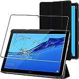 ebestStar - Funda Compatible con Huawei MediaPad M5 Lite 10.1 Carcasa Cuero PU y Silicona, Smart Cover Reposo Automático, Neg