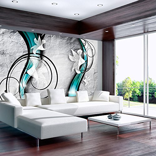 5. Murando   Fototapete 400x280 Cm   Vlies Tapete   Moderne Wanddeko    Design Tapete   Wandtapete   Wand Dekoration   Blumen Abstrakt Braun  Violett Blau ...