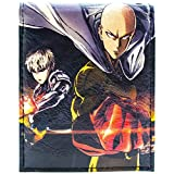 One Punch Man Saitama & Genos Fighting Heroes Nero portafoglio