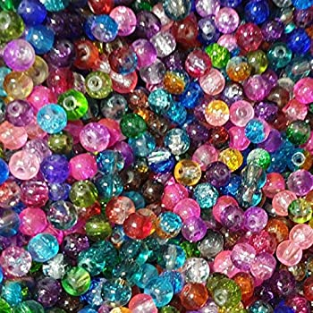 DIY 100 Pcs 4mm Loose Beads Round Spacer Double Colors Glass Jewelry making #14