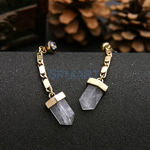 ELECTROPRIME Women Jewelry Fashion Stud Earings Gemstone Bronze Long Drop Dangle Earrings