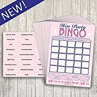 Hen Party Bingo - Party Game - 20 Players - New!