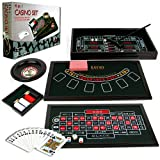 Trademark Poker 4-in-1 Casino Game Table Roulette, Craps, Poker, Blackjack